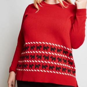 Modcloth Whimsically Warm Holiday Tunic Sweater